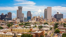 New Orleans, Louisiana, USA downtown skyline in the afternoon.