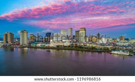 New Orleans, Louisiana, USA Skyline at Sunrise
