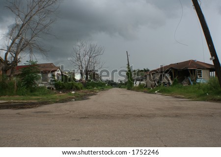 New Orleans, Lower Ninth Ward. One year after Hurricane Katrina.