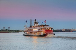 New Orleans paddle steamer in Mississippi river in New Orleans,   Louisiana