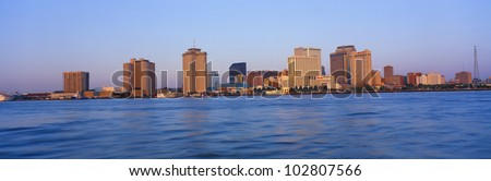 New Orleans Skyline From Algiers Point, Sunrise, Louisiana