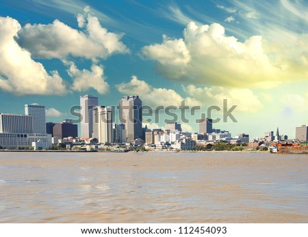New Orleans Skyline from Mississippi, U.S.A.