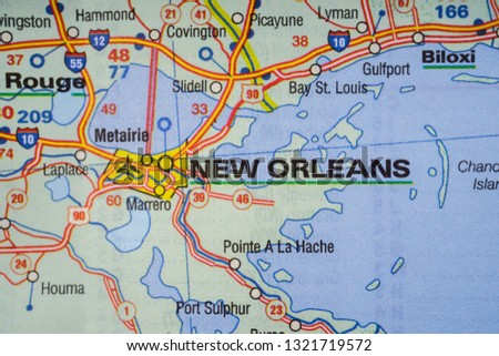 Free Photos Map With Pin Point Of New Orleans In Louisiana Usa