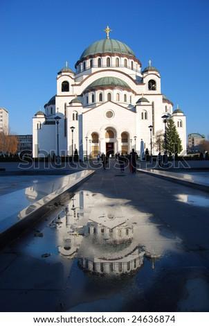 New orthodox church in Bekgrade in Serbia