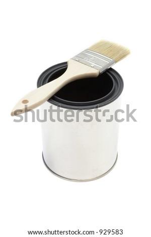 New paint brush and bucket