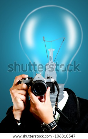 New paper photographer using SLR for capture photo
