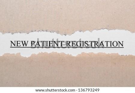 New patient registration