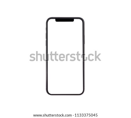new phone front isolated on white background #1133375045