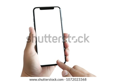 new phone Technology smartphone with blank screen and modern frame less design - Shutterstock ID 1072023368