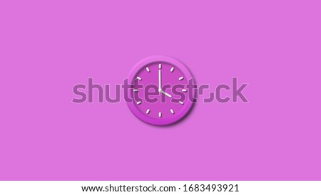 New pink 3d wall clock,clock icon,3d counting down clock,Wall clock
