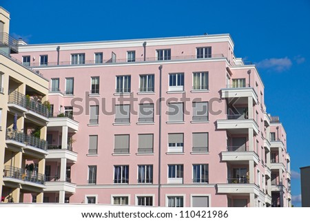New pink townhouse