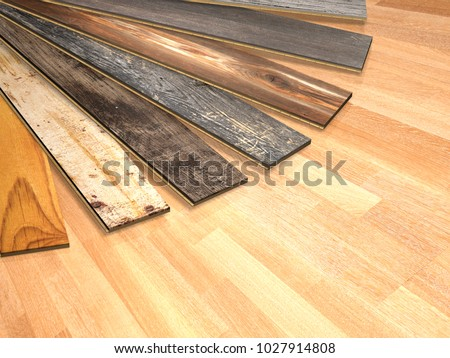 New Planks Of Oak Parquet Different Colors With Rustic Texture On Wooden Floor 3d