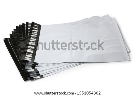 New postal packages on white background #1551054302