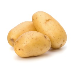New potato isolated on white background close up