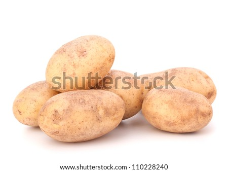 New potato isolated on white background cutout