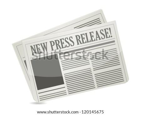new press release illustration design over white