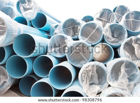 New PVC pipes for water city supply system