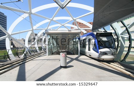 New Randstad Rail tram station in The Hague