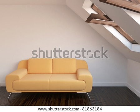 New relaxation room with sofa and window