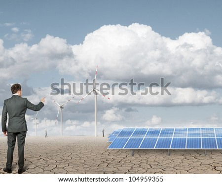 New renewable energy project with handshake