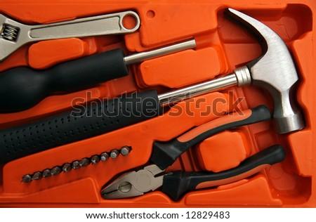 New repair tools in orange box
