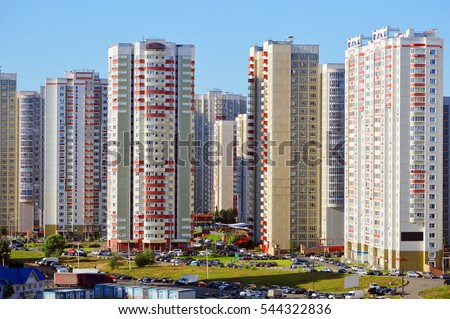 New residential buildings in an area Novokurkino Сток-фото ©