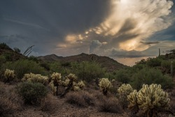 New River, Arizona with a epic cloud view just before sunset