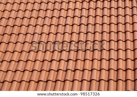 New roof tiles closeup detail