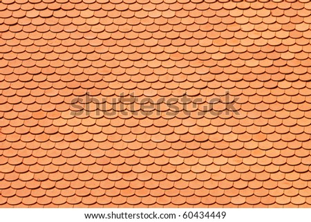 New roof tiles texture