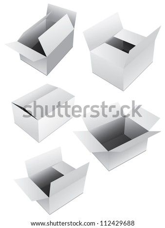 New set of vector boxes