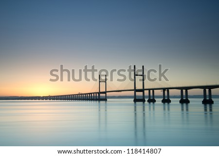 New Severn Bridge at sunrise #118414807