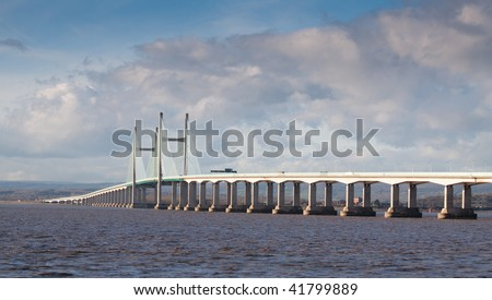 New Severn Bridge carrying the M4 motorway connection between Wales and England