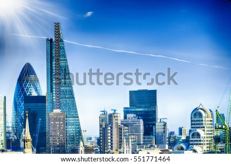 New skyline of London.