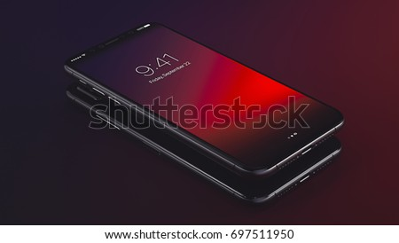 New Smartphone Fall 2017 3D Illustration