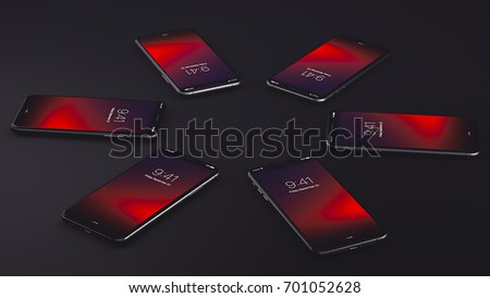 New Smartphone Fall 2017 3D Illustration