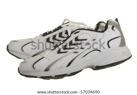 New sneakers/sport shoes; isolated on white background