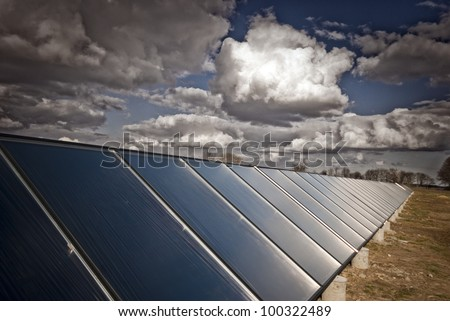 New solar heating plant producing hot water for power and house heating