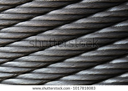 new steel cable ,steel wire or steel rope, rope sling drum.Texture and background