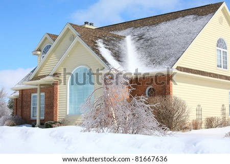 New suburban house in the winter.