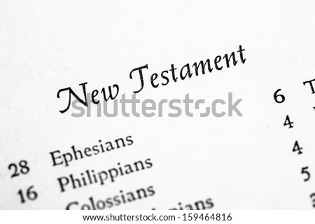 New Testament table of contents page