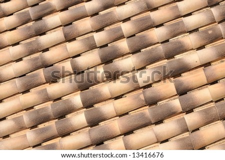 new tiles of a roof