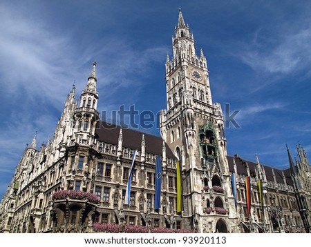 New Town Hall in Munich, Germany.