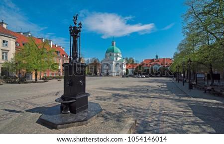 New Town Market Place, Warsaw, Poland Zdjęcia stock ©