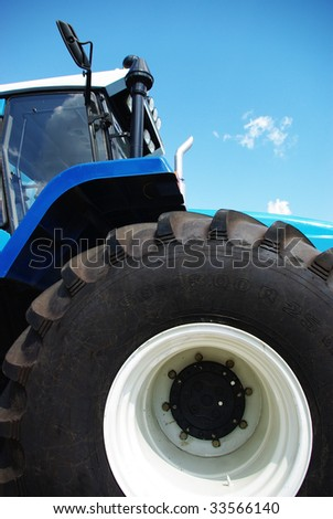 New tractor with big tires stock photo 33566140 shutterstock for Big tractor tires for free