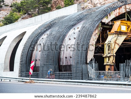 New Transportation Tunnel Construction  stock photo