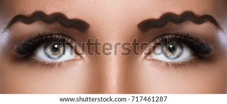 New trend - squiggle or wavy eyebrows - Shutterstock ID 717461287