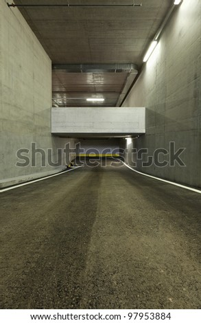 new underground parking, tunnel