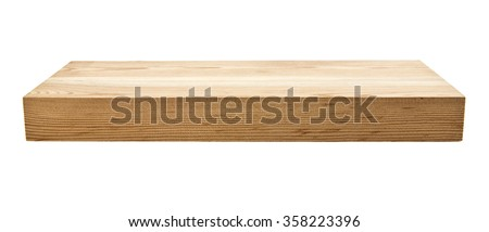 new unused wooden Board isolated on white background Stock foto ©