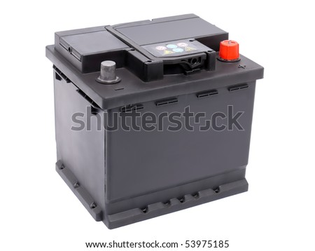 Battery on Stock Photo   New 12v Car Battery Isolated On White Background