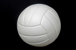 New Volleyball Ball Studio Shot And Isolated On Black